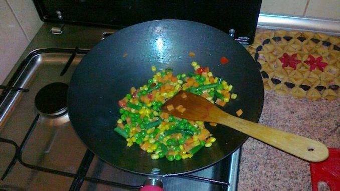 Wegetariańskie chińskie danie