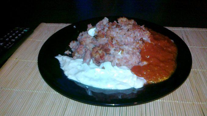 Ryż z mięsem- sposób podania farszu