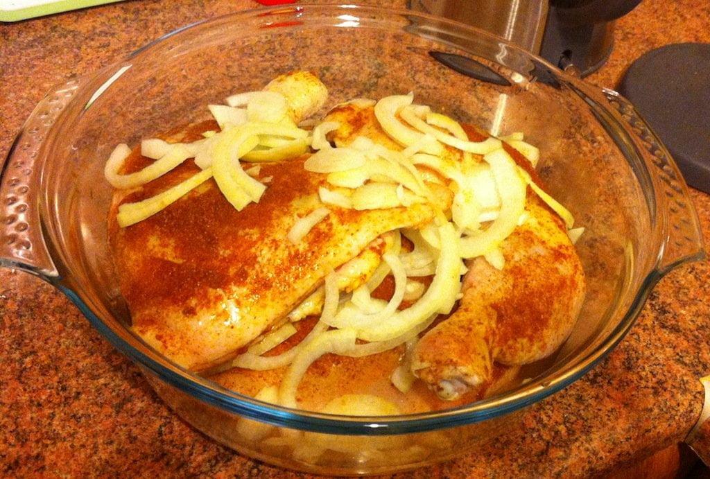 Niedzielny obiad - pieczony kurczak