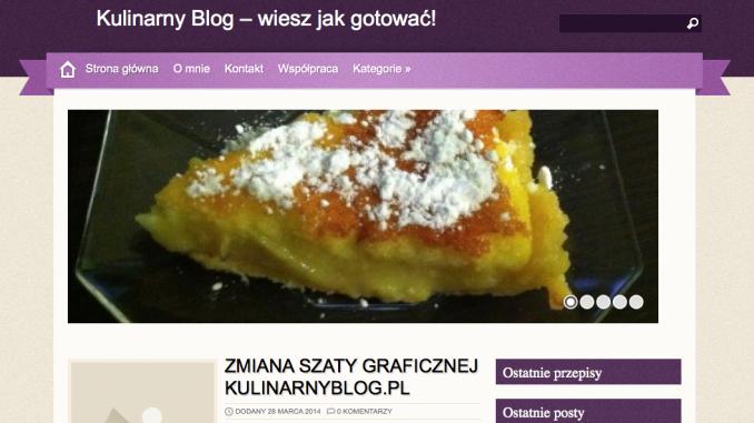 Zmiana szaty graficznej Kulinarnyblog.pl