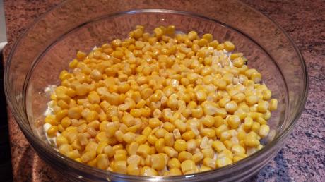 Gyros pod pierzynką - kukurydza