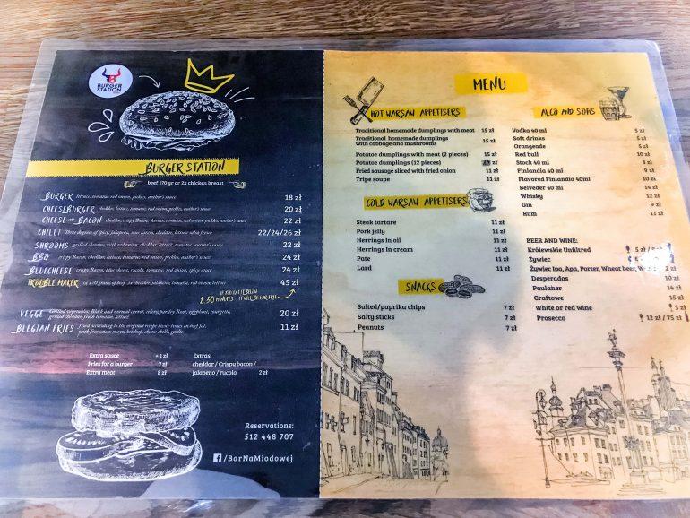 Bar Na Miodowej - pyszne domowe likiery i smaczne jedzenie