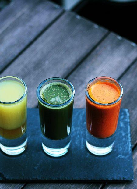 Koktajle owocowe i soki naturalne – specjały Bistro Sante