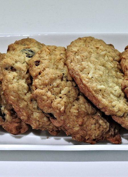 Ciasteczka owsiane z żurawiną