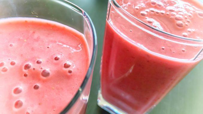 Dietetyczny koktajl truskawkowy