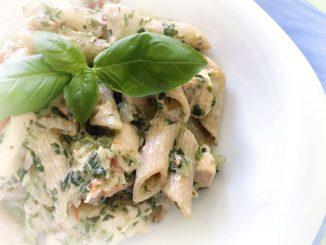 Makaron z kurczakiem i gorgonzolą
