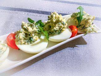 Jajka faszerowane rukolą
