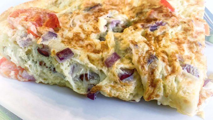 Błyskawiczny omlet pomidorami