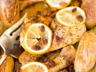 Pieczone pałki z kurczaka z cytryną