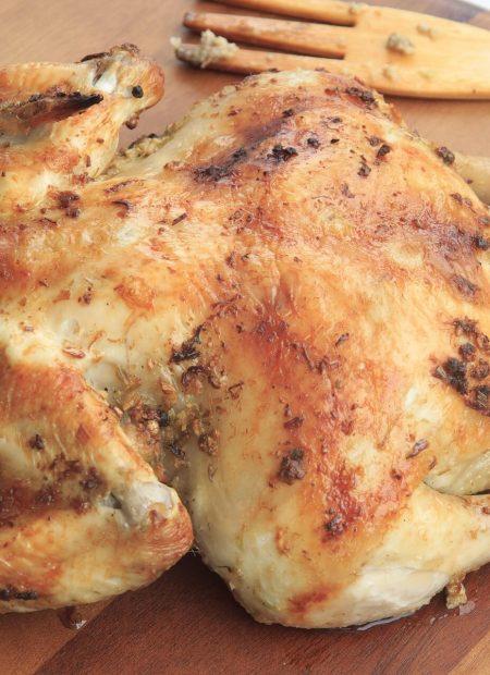 Pieczony kurczak w całości