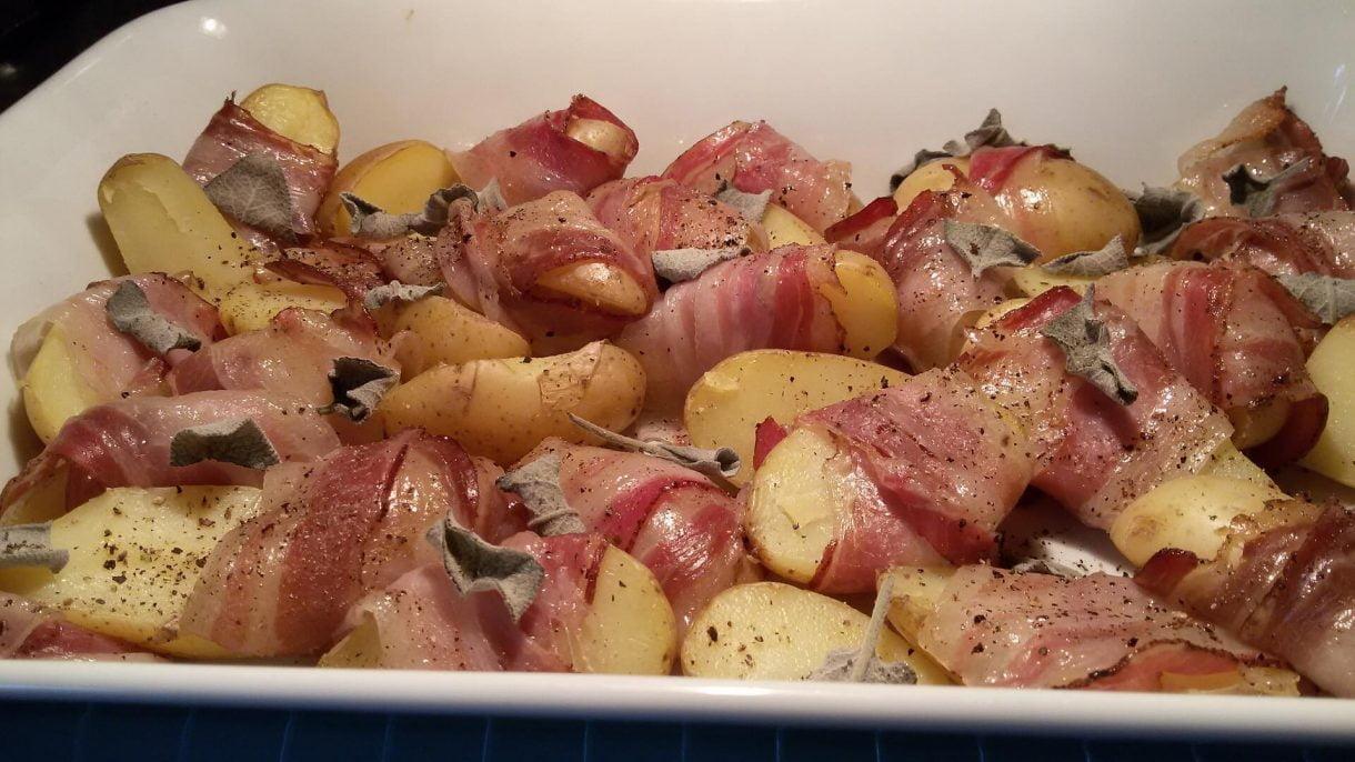 Zapiekane ziemniaki w boczku