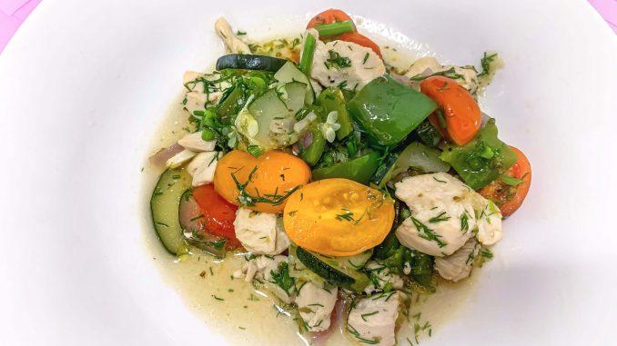 Kurczak z warzywami i koperkiem