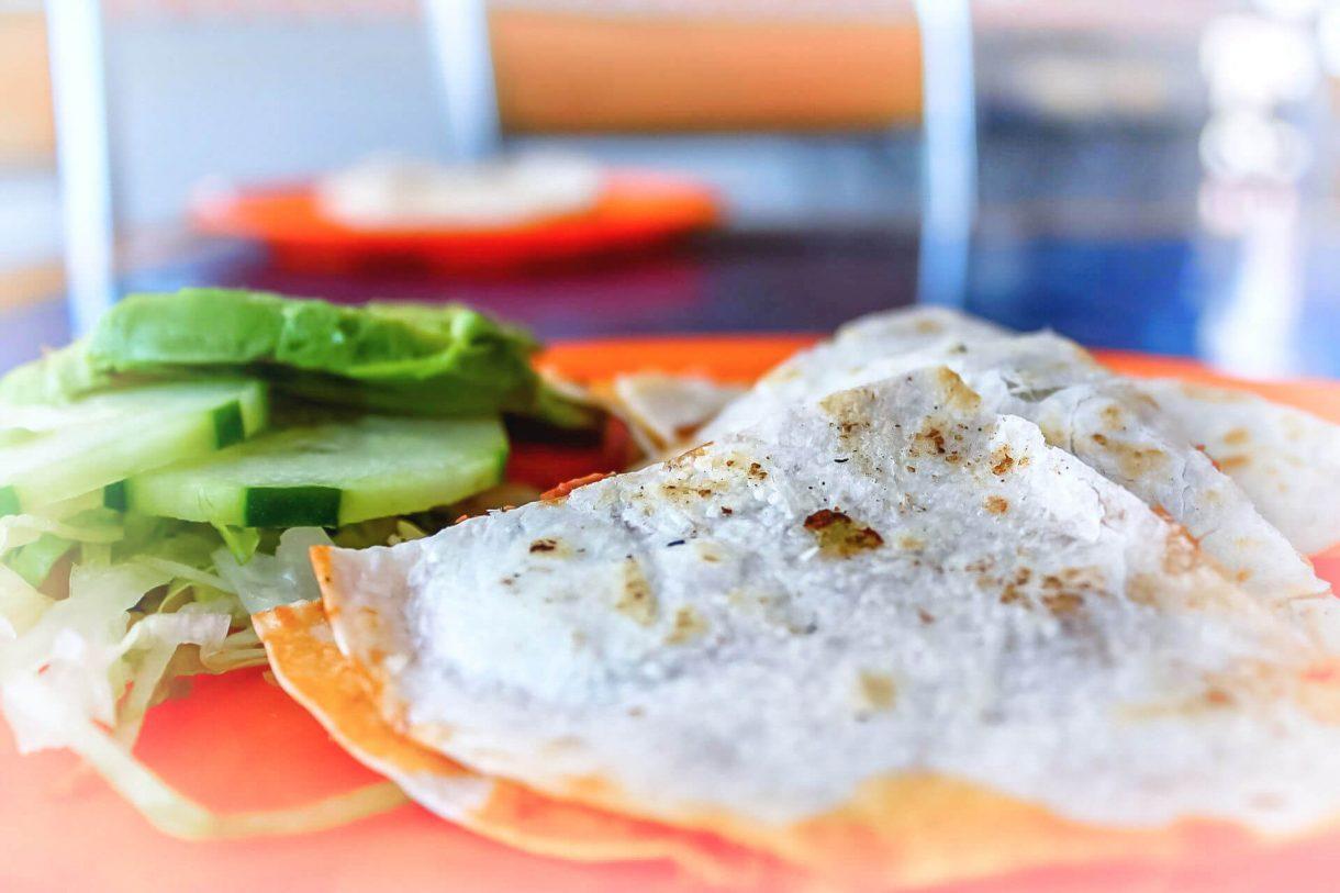 Quesadilla z mięsem mielonym