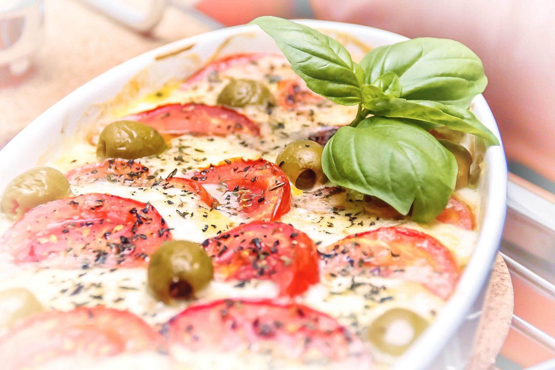 Zapiekane pomidory z mozzarellą