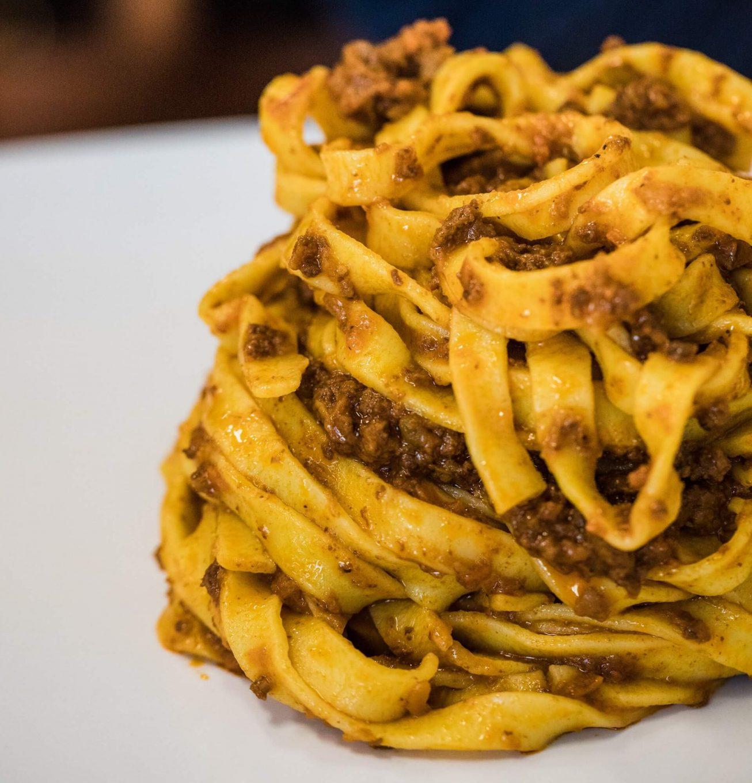Spaghetti z mięsem mielonym