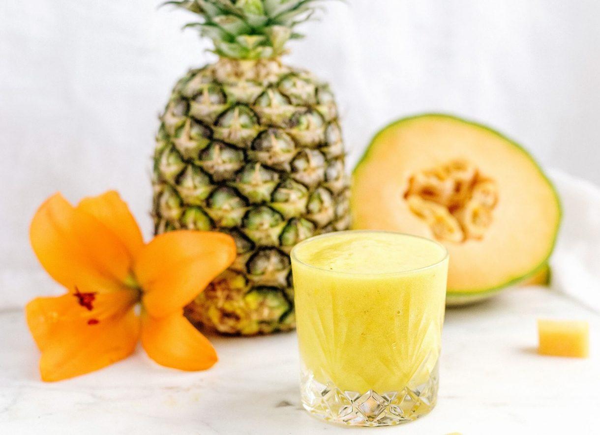 Smoothie melonowo - ananasowe