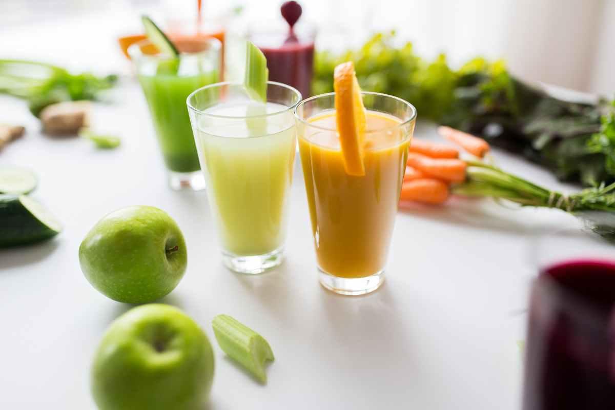 Marchew, zielone jabłko i pomarańcza