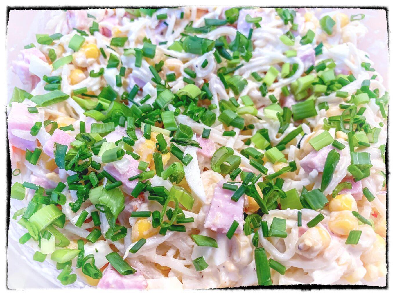 Sałatka z szynką i selerem konserwowym