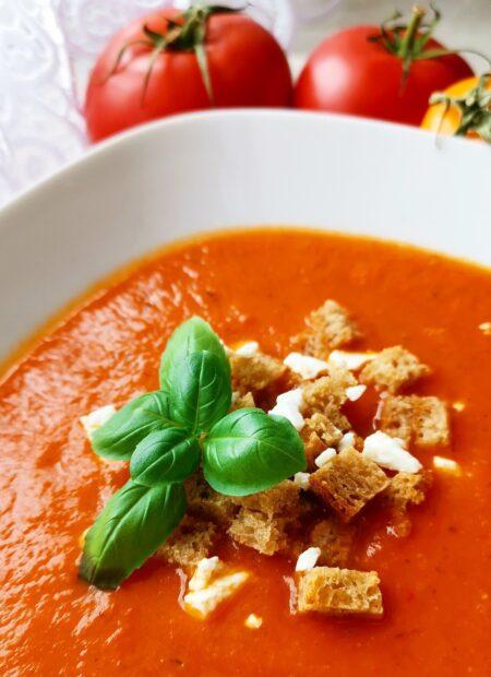 Szybki krem z pomidorów