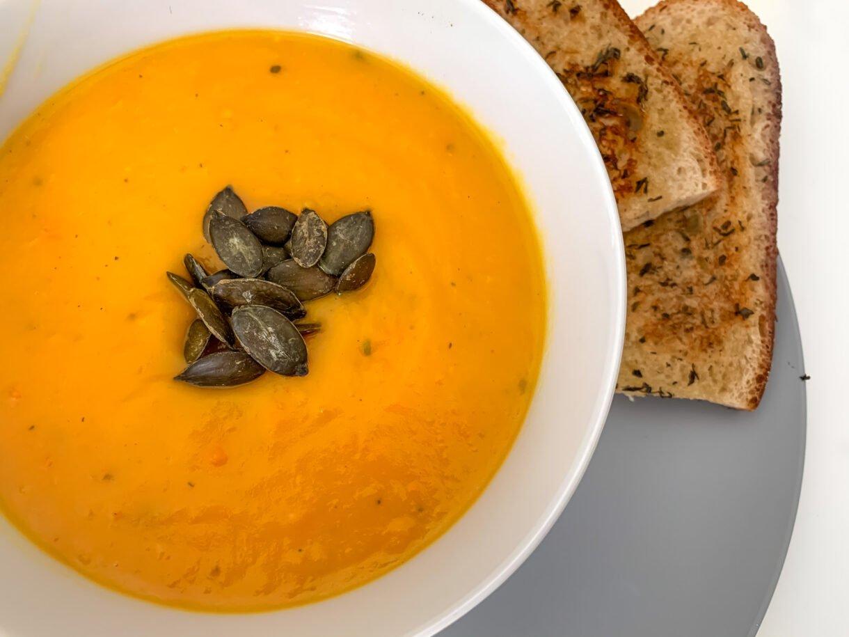Błyskawiczna zupa dyniowa