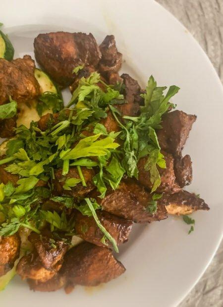 Marynowany kurczak z grillowaną cukinią