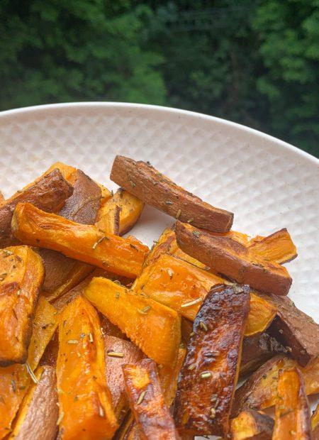 Pieczone frytki z batatów